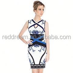 Model designer bandage dress thai silk evening dress