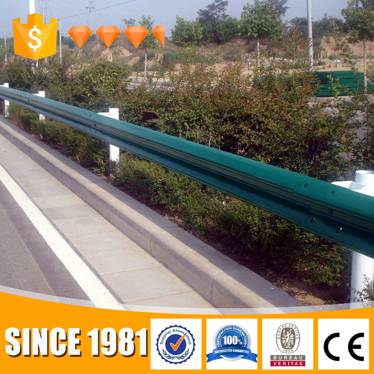 Top Assessed guardrail supplier / Hot galvanized/painted steel highway guardrail spacer