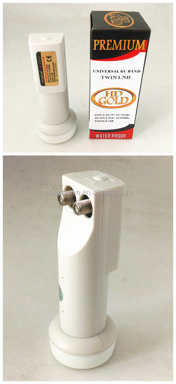 SATELLITE LNBF TWIN UNIVERSAL KU BAND DUAL LNB 0.1dB New 2 Output FTA