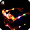 Christmas Decoration Cool Funny Pumpkin Shaped Plastic Led Eyeglasses For Kids