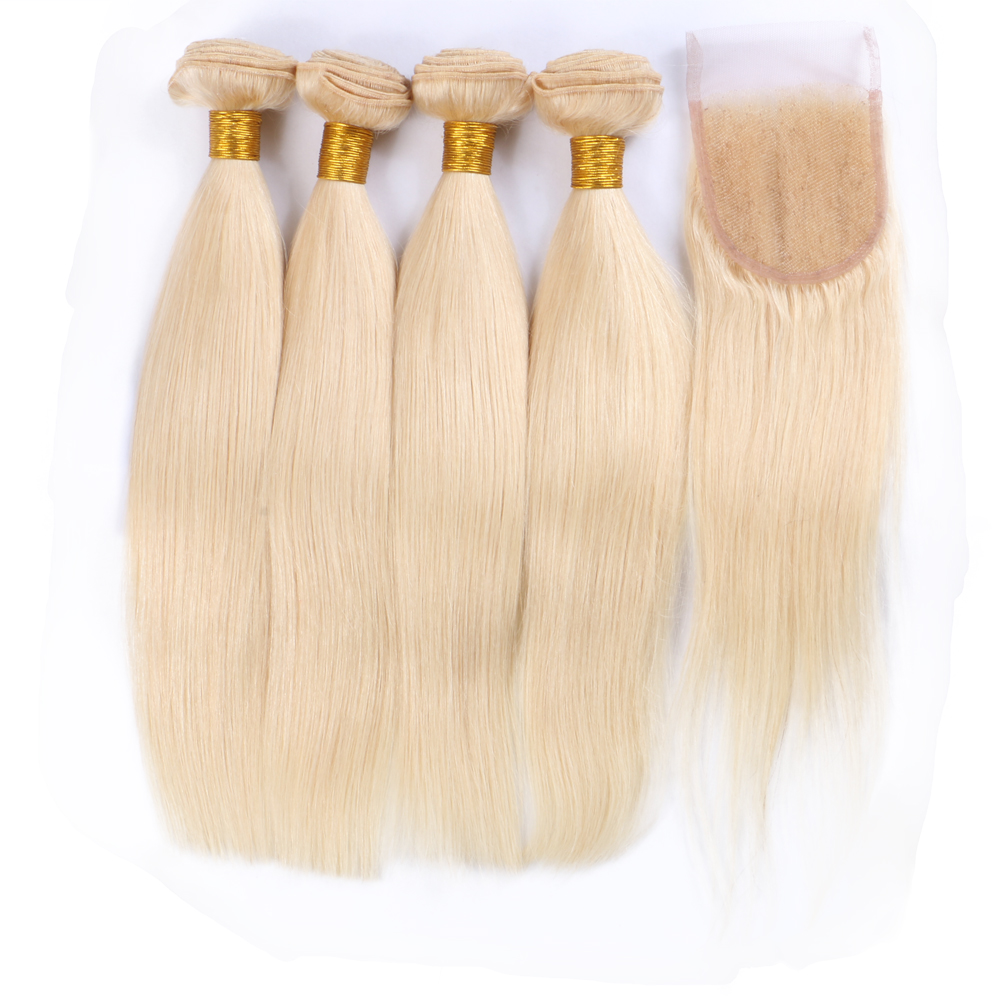 Wholesale 613 Blonde Straight Hair <strong>Weave</strong> 100% Virgin Brazilian Human Hair