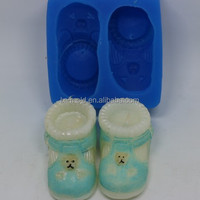 baby shoes 3d fondant molds silicone mold for decorating cake