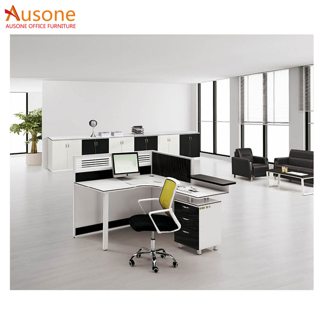 Modern Cubicles Office Workstation 2 Person Office Desk