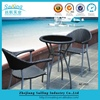 New Design Outdoor Furniture Bar Wicker Table And Chair