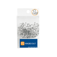 Duck shaped animal nickel metal paper clips