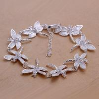 Fashion jewelry 2017 charms dragonfly silver bracelet women CLKNSPCH121