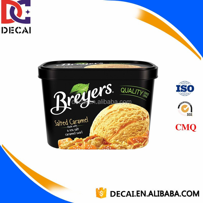 Color Printed IML In Mold Label Printing for Plastic and Customised Design Logo Ice Cream Cup