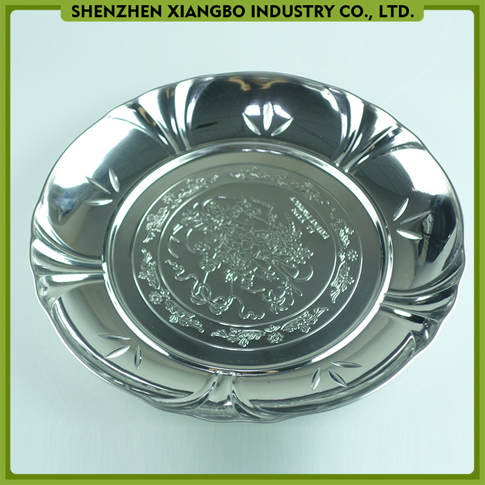 Factory price stainless steel dinner plate round/serving tray hardware