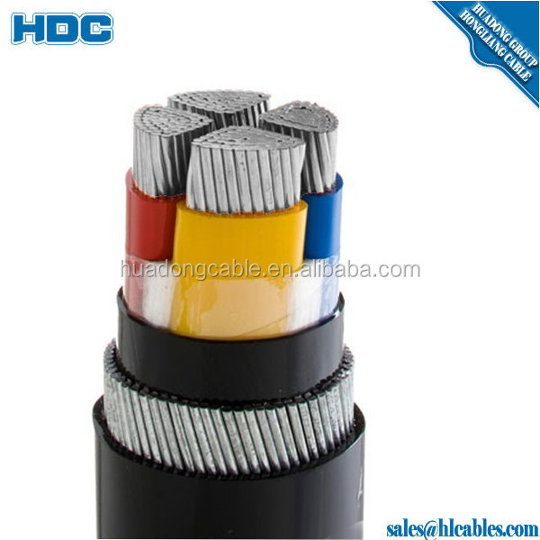 medium voltage xlpe insulated pvc sheath armored copper core power cable 16mm 4 cores