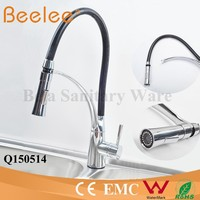 China Modern Kitchen Designs Commercial Brass Single Handle Chrome Water Faucet Kitchen Sink Pull Down Kitchen Water Tap