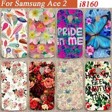 Beautiful Flowers Style Print hard Case Cover For Samsung Galaxy Ace 2 II i8160 8160 diy colorful pattern case