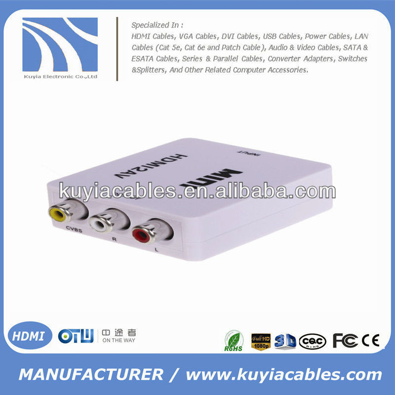 HDMI to RCA Converter Box For TV PS3 VHS VCR DVD