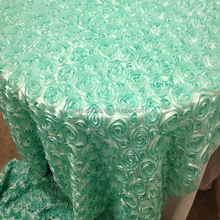 Wholesale Green Rosette Banquet Used Tablecloths for Sale