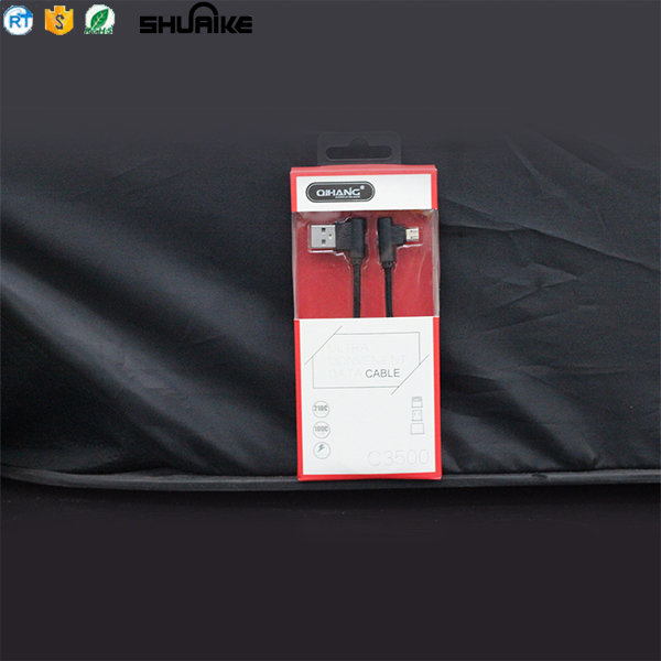 Factory High Quality L shape Micro USB Cable Charger, Micro USB Cable for Data Transmission Usb Cable For Iphone Charger