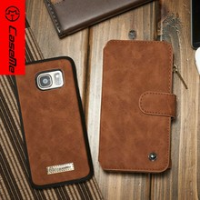 Mobile phone wallet book style leather cases for Samsung,Supreme Quality covers for galaxy s7