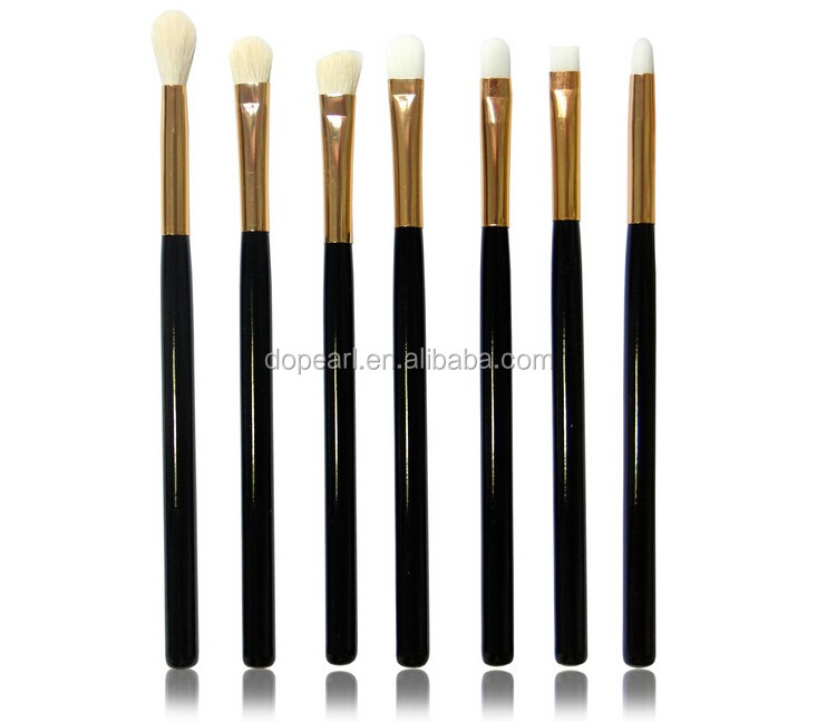 Ebay amazon hot sale makeup brush set 15piece white goat hair synthetic hair make up brushes