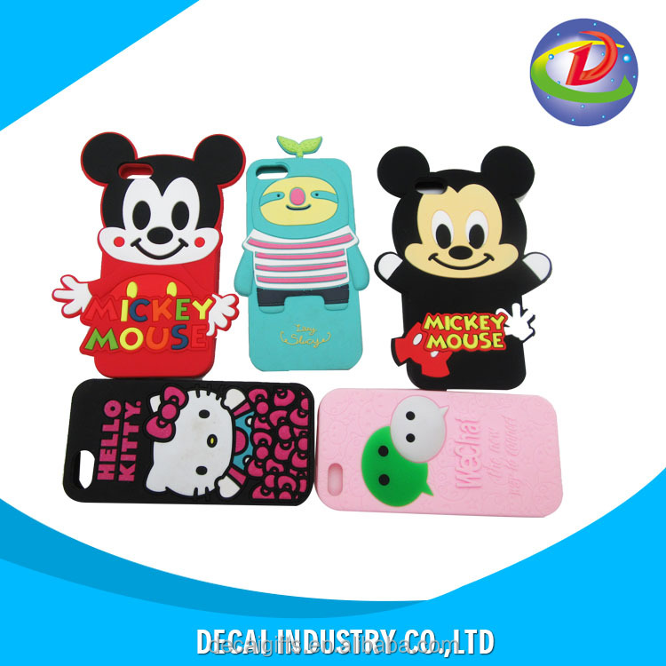 custom high quality 3d silicone phone case factory for Iphone