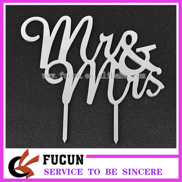 Mr&Mrs Lucite Laser Cut Acrylic Wedding Cake Topper Decoration