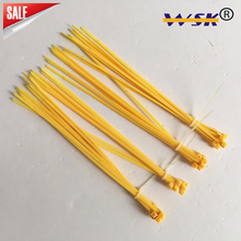 Yellow 5*300 Nylon 66 Self Locking Cable Tie for bus,MTR,construction WSK-ZD300