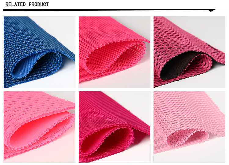 Tear Resistant Polyester Knitting Durable 3D Air Mesh Fabric for Shoes