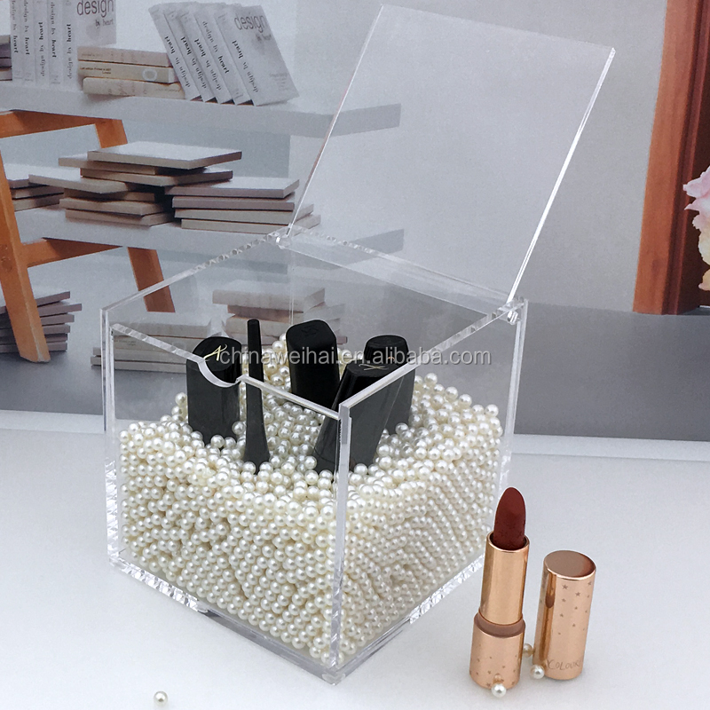 Clear Cube Acrylic Boxes With Lid