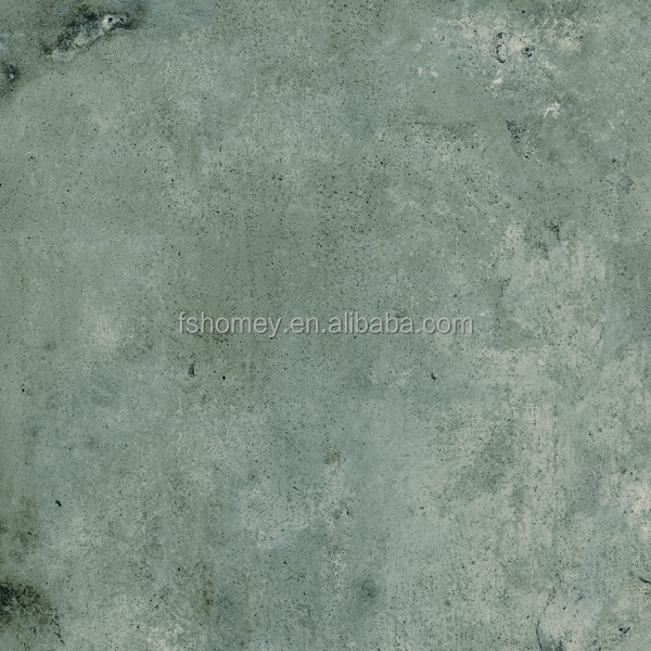 Dark grey cloud cement look ceramic floor tiles for school and hospital
