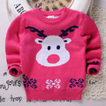 Children Cotton small middle reindeer baby kids ugly christmas pullover jumper sweater knitting patterns