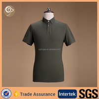Men knitted short sleeve polo t-shirt 100% cotton