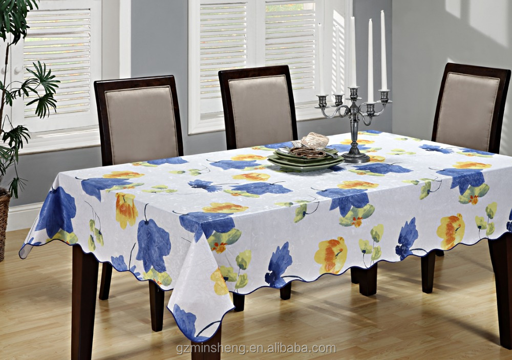spunlace non woven backing pvc table cloth waterproof houseware high-end product table cover