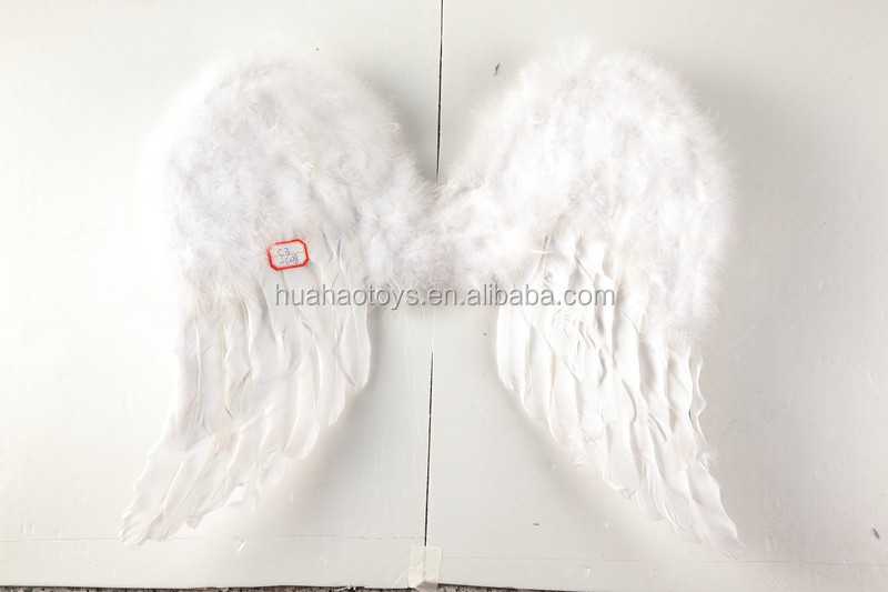 2016 low price soft white feather angel wings wholesale party decoration