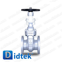 Didtek ASTM A216 WCB outside screw yoke flanged connection hand wheel operate gate valve