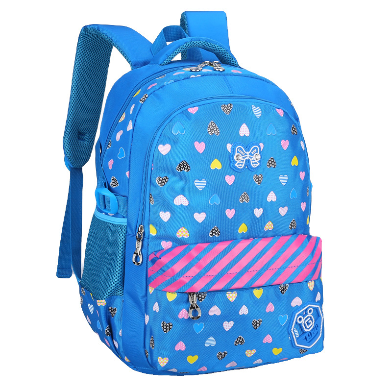 China factory hot selling new design lovely girl picture school bags