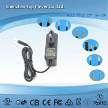 Wall plug switch mode power supply 12v 1a 2a 3a power ac/dc adaptor 12 volt 1 amp 1000mA power