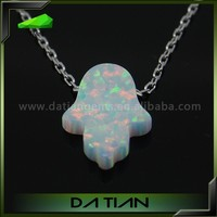 Loose Gemstone October Birthstone Synthetic Price of White Snow Hamsa/Hand Opal Stone