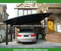 construction material carport with arched roof