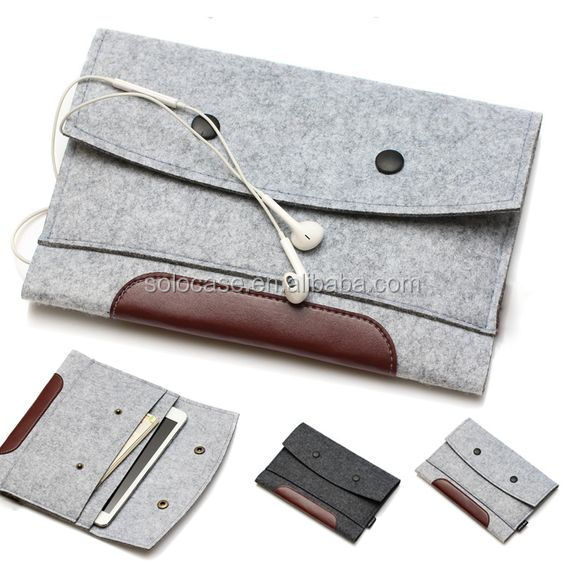 high quality Wool Felt bags for iPad mini 2/3& for ipad 2/3/4