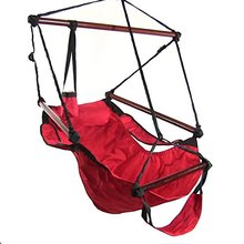 Red Tahiti Double Oxford Air cloth Hammock Chairs with footrest,Wide Surface-clearance low
