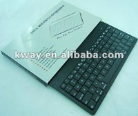 Mini Wireless Bluetooth Aluminum Keyboard Built-in Battery For iPad 2/3 PC+USB Cable with retails package KKB003