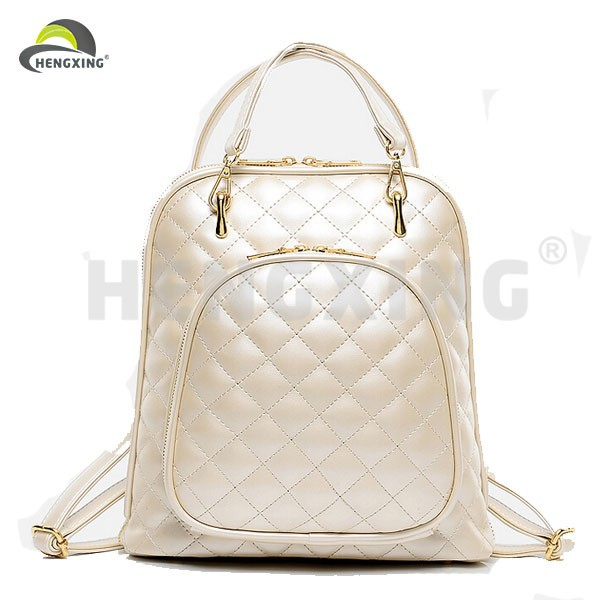 Fashion White Ladies PU Leather Backpacks