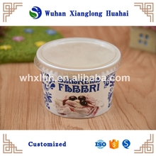 Disposable ice cream paper cup/tub with lids and spoon