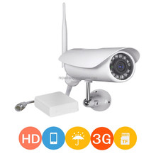 Full 720P HD outdoor wireless ip camera with sd card vedio camera live stream detector sensor 3g security camera