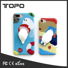Phone Accessories 3D PC Nail Pinch Relieve Stress Fidget Hand Squeeze Soft Squishy Mobile phone case cover for iPhone 6 7 plus
