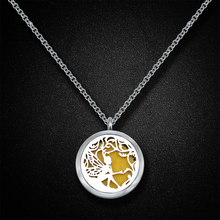 Fantasy pattern diffuser locket stainless steel essential oil diffuser necklace
