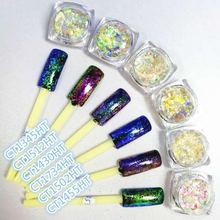 Sheenbow Chameleon Glass Irregular Flakes Mirror Effect Pigment for Nail Polish