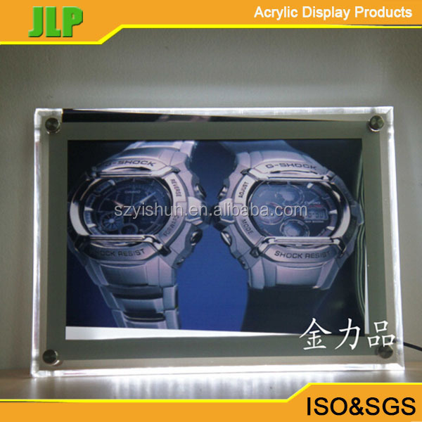 western style acrylic picture frame hd photo led wall