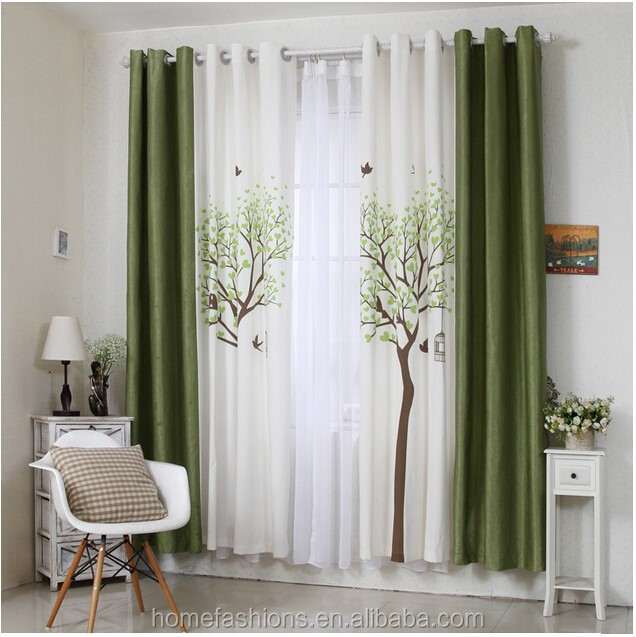 Natural romantic printed linen window curtains buy linen fabric curtain printed fabric curtain - Clever window curtain ideas matched with interior atmosphere and concept ...