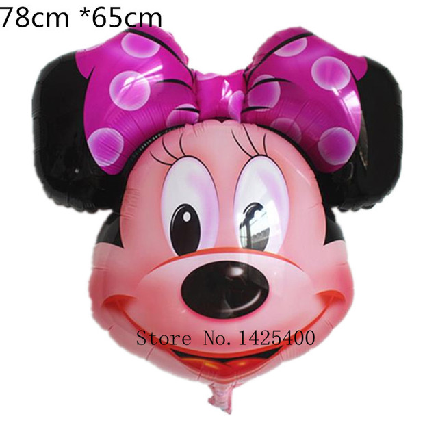 1pcs The new aluminum balloons Minnie Mickey head balloon decorations wholesale party supplies children's toys