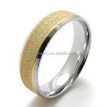 Bulk Sale Fashion Sandblasting Designs Stainless Steel Rings for Men's Vogue Jewelry