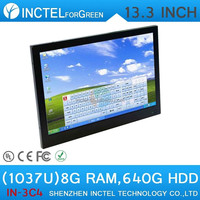 "Cheapest touchscreen all in one PC 13.3"" with Intel Celeron 1037u Dual Core 1.86Ghz 8G RAM 640G HDD"