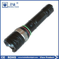 X10 mechanical zoom blue point flashlight rechargable